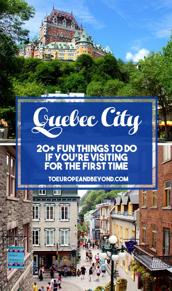 A list of things to do in #Quebec City for first-time visitors who want to see and do it all. Includes day trip, food, and coffee recommendations! #Canada